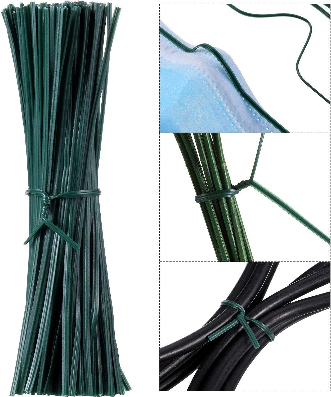 San Antonio Mall 200 Pieces 12 cm Ranking TOP9 Wire Twist Nose Garden Cli Ties Plant Flexible