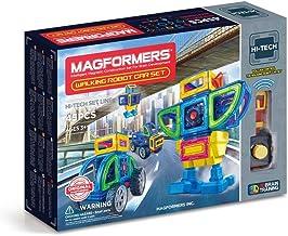 Magformers Walking Robot Car (45 Pieces) Set, Rainbow Magnetic Building Blocks, Educational Magnetic Tiles Kit , Magnetic ...