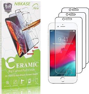 Verre Trempé pour iPhone SE 2020 / iPhone 8 / iPhone 7, NBKASE Clair Verre Trempé Protecteur D'écran, Anti-Rayures Protect...