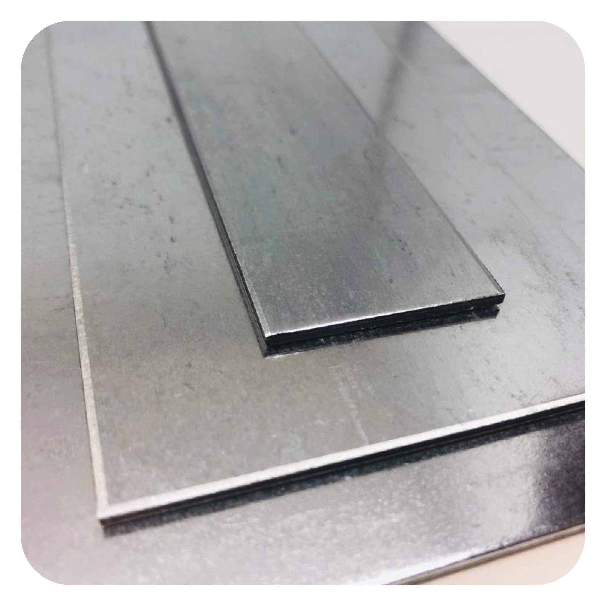 Chapa de acero galvanizado, ancla de 0,7 mm hasta 3 mm, chapas cortadas a elegir: Amazon.es: Bricolaje y herramientas