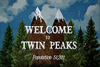 Welcome to Twin Peaks Sign Art Print Cubicle Locker Mini Art Poster 12x8