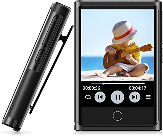72GB MP3 Player, MP3 Player with Bluetooth 4.2, 2'' HD Touch Screen, Portable Bluetooth Music Player with Clip, FM Radio, Voice Recorder, Sport...