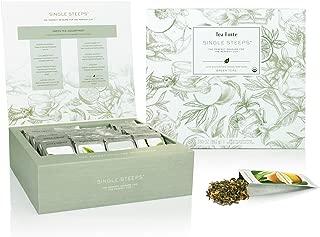 Tea Forte Single Steeps Loose Leaf Tea Chest, 28 Different Single Serve Pouches, Green Tea