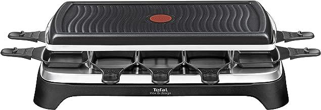 Tefal Gourmet 10 Inox & Design RE458812 - 2 in 1 gourmetstel en grill - Geschikt voor 10 personen, incl. 10 pannen met ant...