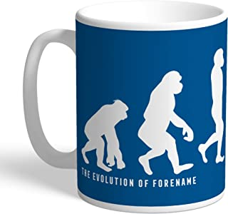 Leeds United Official Personalized FC Evolution Mug - Free Personalisation