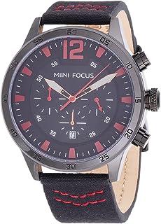 Mini Focus Mens Quartz Watch, Chronograph Display and Leather Strap - MF0006G.01