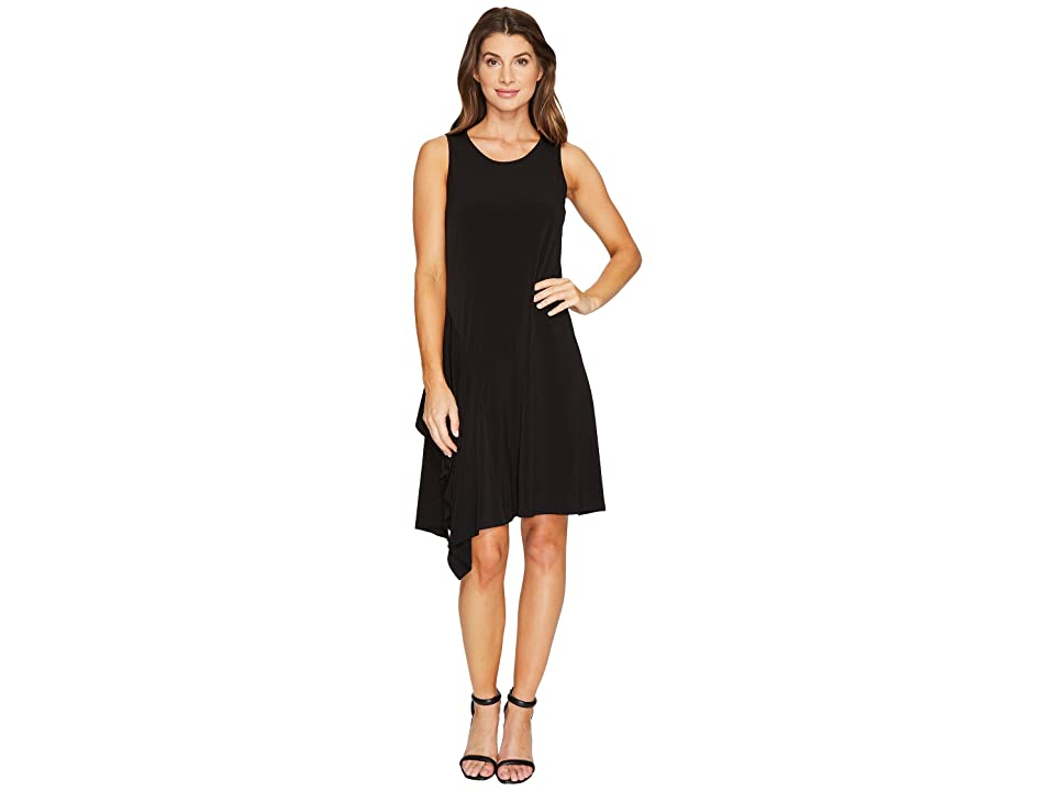Ivanka Trump Sleeveless Jersey Midi Dress (Black) Women