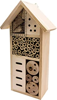 changsha Natural Wooden Insect House Habitat, Outdoor Garden Decorative Insect Hotels for Ladybugs, lacewings, Butterfly, ...