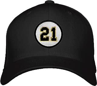 Roberto Clemente #21 Hat - Pittsburgh Baseball Black Adjustable Snapback Cap