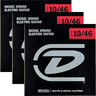Dunlop 3PDEN1046 Nickel Wound Electric Guitar Strings, Medium, .010–.046, 3 Sets/Box