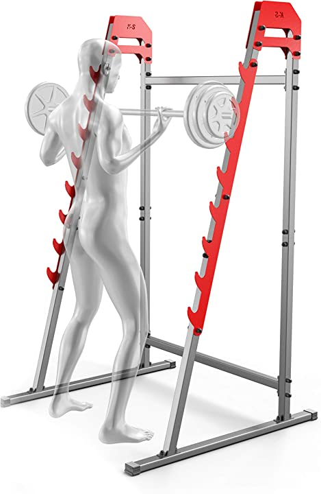 Squat stand tsport potenza panca press rack casa gym barbell rack k-sport B08CSZ6VV5