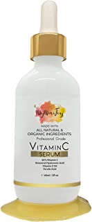 Vitamin C Serum for Face [BIG 2oz Bottle] with Hyaluronic Acid & Vitamin E Oil - Natural & Organic Anti Aging Collagen Boo...