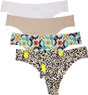 d316b37a0dd6 NATUCE Braguitas Culotte Mujer de Microfibra Tangas Sin Costura para Mujer  Pack de 4