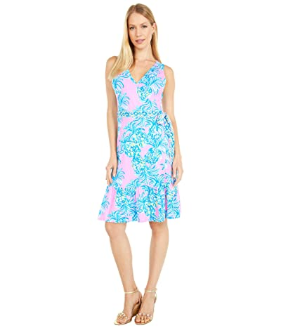 Lilly Pulitzer Sleeveless Misha Wrap Dress (Pelican Pink Beat The Heat Engineered) Women