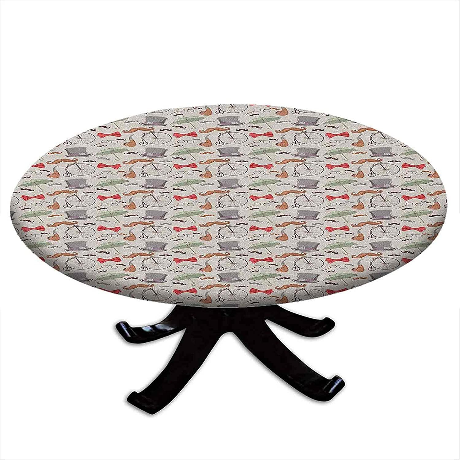 Round Alternative dealer Fitted Bicycle Tablecloth 1940s Objects Bic Animer and price revision High of Wheel