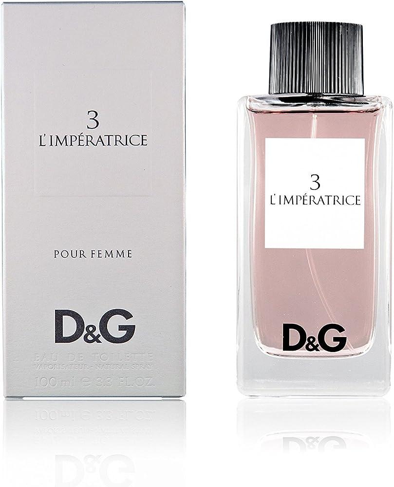 Dolce & gabbana n. 3 limperatrice unisex eau de toilette perfume 100 ml B003L1ALUO
