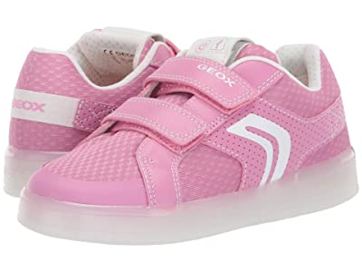 Geox Kids Kommodor Girl 9 (Little Kid/Big Kid) (Dark Pink/White) Girl