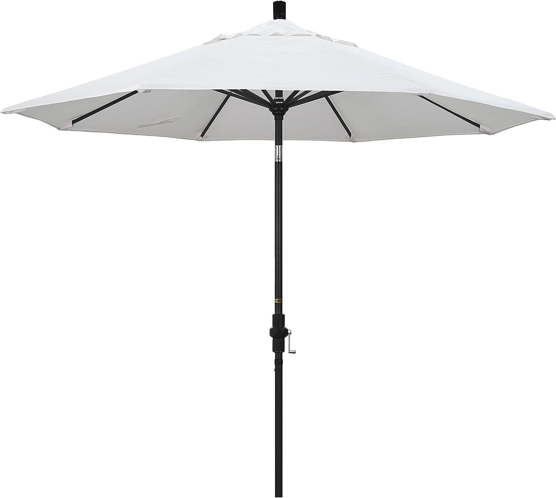 California Umbrella Over item handling 9' Round Lif Crank Market Max 69% OFF Aluminum