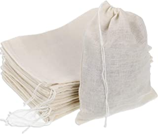 Pangda 100 Pieces Drawstring Cotton Bags Muslin Bags for Party Favor Home Supplies, 5 by 7 Inches