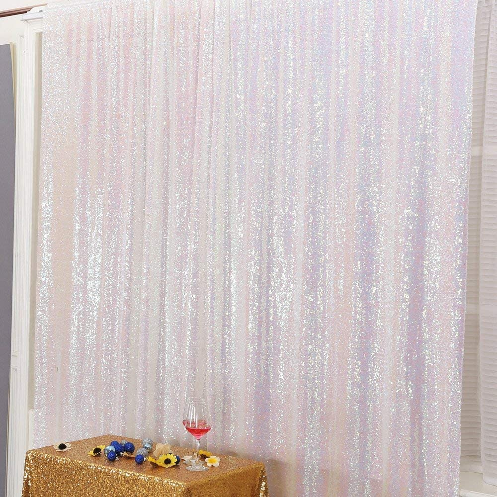 4FTx6FT PartyDelight Sequin Backdrop Wedding Curtain Special Events Pink Party