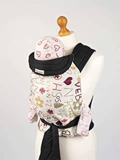 c760c3a54f3 Palm and Pond Mei Tai Baby Sling - Funky Letters Design