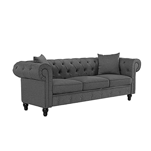 Velvet Tufted Sofa: Amazon.com