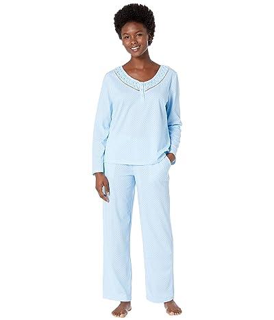 Karen Neuburger Petite Last Waltz Long Sleeve Pullover PJ (Dot Blue) Women