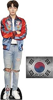 Jungkook Bangtan Boys Lifesize and Mini Cardboard Cutout Fan Pack, 178cm x 94cm Includes 8x10 Star Photo