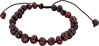 Adjustable Knotted Adult Baltic Amber Bracelet, (6.3