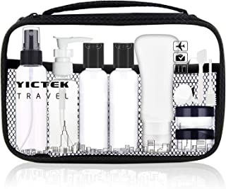 Empty Plastic Travel Bottles Containers 2 oz, Travel Size Toiletries Tubes Kit for Liquids, Carry-On Set for Women/Men