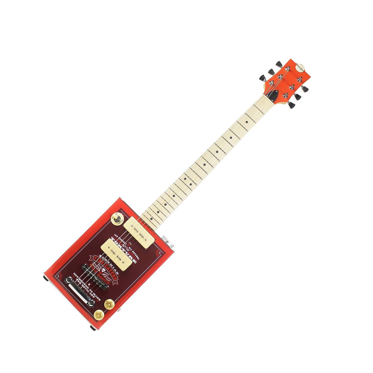Bohemian Guitars - Boho Series - Bohemian Hot Sauce - Electric Oil Can Hollow Body Guitar - 2 x P90