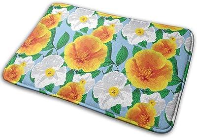 Beautiful Camellia Carpet Non-Slip Welcome Front Doormat Entryway Carpet Washable Outdoor Indoor Mat Room Rug 15.7 X 23.6 inch