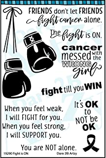 Dare 2B Artzy The Fight is On Cancer Clear Cling Rubber Stamp Set 19290