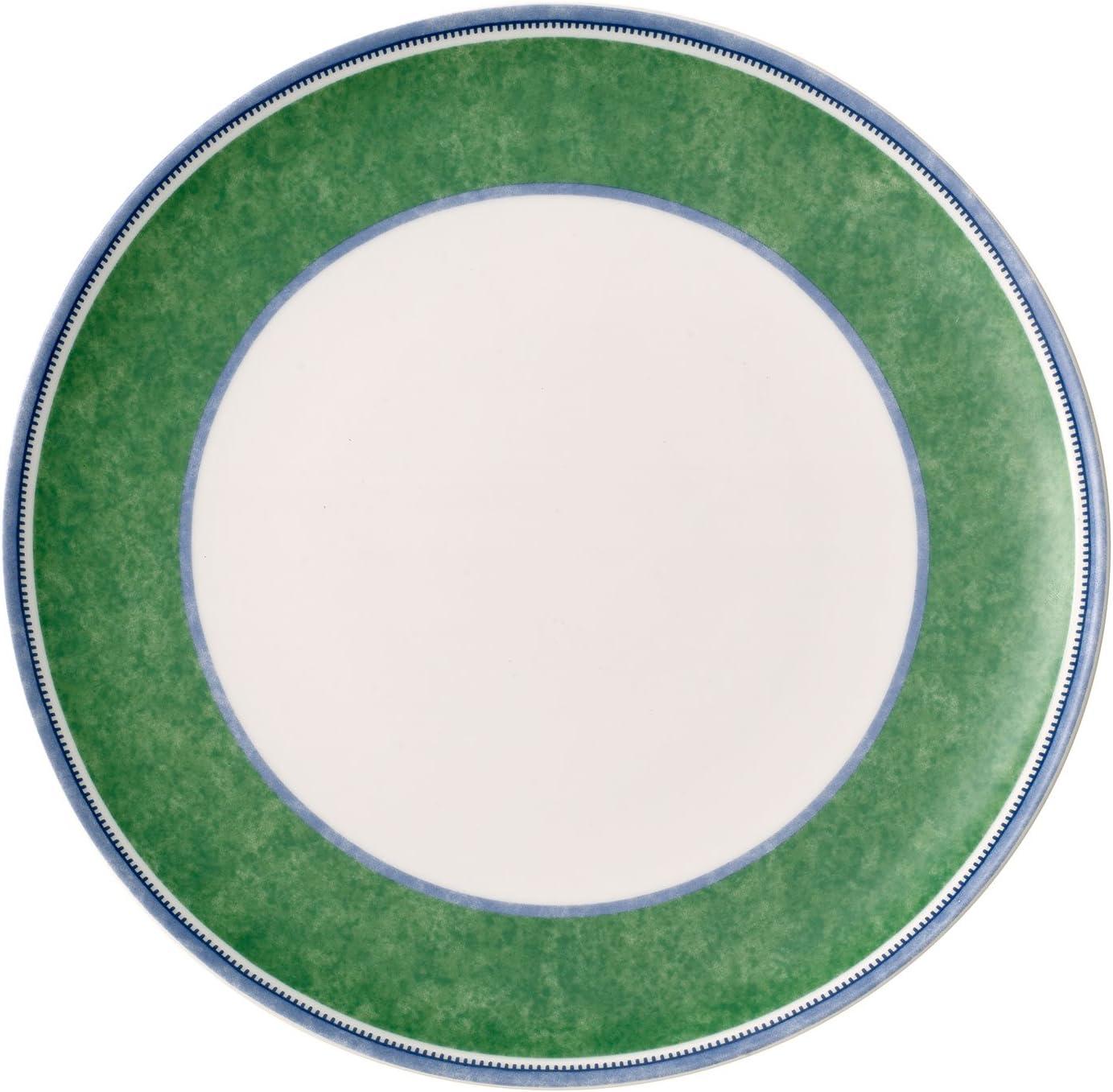 ファクトリーアウトレット Villeroy Boch Costa Coup Dinner Plate 10.25 Green in White B 期間限定