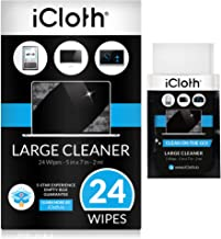 iCloth Large Lens and Screen Cleaner Pro-Grade Individually Wrapped Wet Wipes, 1 Wipe..