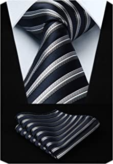 Best navy blue and silver tie Reviews