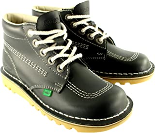 Unisex Kids Youth Kickers Kick Hi Back to School Leather Ankle Boot Shoes