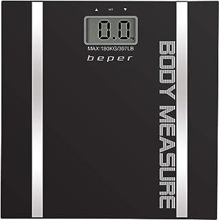 Beper Body Trainer - Báscula de baño con medidor de grasa corporal