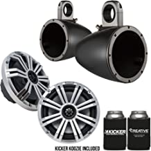 "$429 » Kicker 8"" BlackSilver Wake Tower LED Marine Speakers 1-Pair"