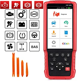 LAUNCH OBD2 Scanner- CRP429C ENG/ABS/SRS/Transmission Diagnostic Scan Tool with Oil Reset,EPB,BMS,DPF,Injector Coding,IMMO,TPMS Reset One-Click Online Update (Red)