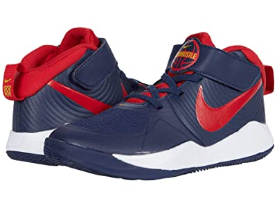 Nike Kids Team Hustle D 9 (Little Kid) (Midnight Navy/University Red/White) Kids Shoes