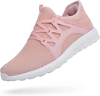 ZOCAVIA Womens Air Knitted Running Shoes Fashion Sneakers Ultra Lightweight Athletic Casual Walking Pink Size 9