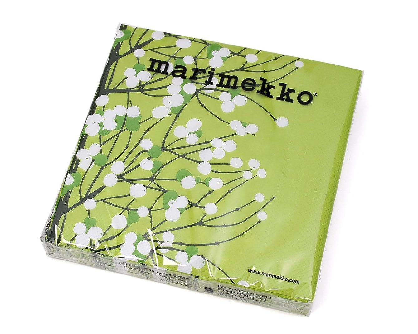 洞察力のあるステレオタイプ不調和マリメッコ(marimekko) ペーパーナプキン ルミマルヤ ライトグリーン 33x33cm 20枚入り LUMIMARJA 552929 [並行輸入品]