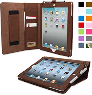 Snugg iPad 2 Case, Executive Distressed Brown Leather Smart Case Cover Apple iPad 2..
