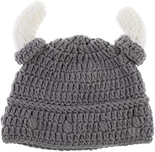 LuDa Baby Boys Girls Kids Winter Warm Hat Scarf and Cap Set Horn Beanie Xmas Gift - 1x Baby Hat, Adult or Baby