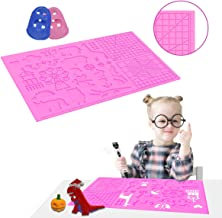 3D Pen Mat large size, Upgraded 3D Printing Pen Silicone Design Mat with basic and animal patterns, large Silicone Mat with 2 finger protectors, 3D Pens Drawing Tools for kids and 3D pen artists