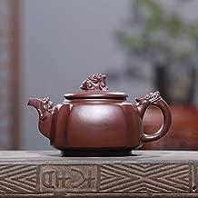 Teapot Teapot Ore Purple Hand-Zhuni Quartet Dragon Statue Carved Ceramic Tea Pot Teapot JFYCUICAN (Color : Purple mud)