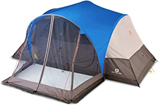 Outbound 8-Person Dome Tent for Camping with Screen Porch and Carry Bag | Easy Up & Water Resistant | 3 Season| Blue