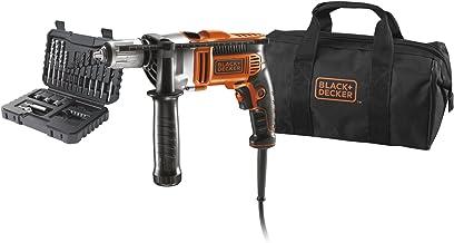 Black & Decker KR705S32 3100RPM Sin llave 750W - Taladro eléctrico (3100 RPM, 1,3 cm, 1,6 cm, 3,2 cm, 16 Nm, 750 W)