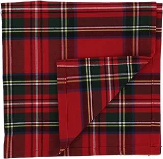 Scottish Tartan Napkins Made in Polycotton (Stewart Royal)